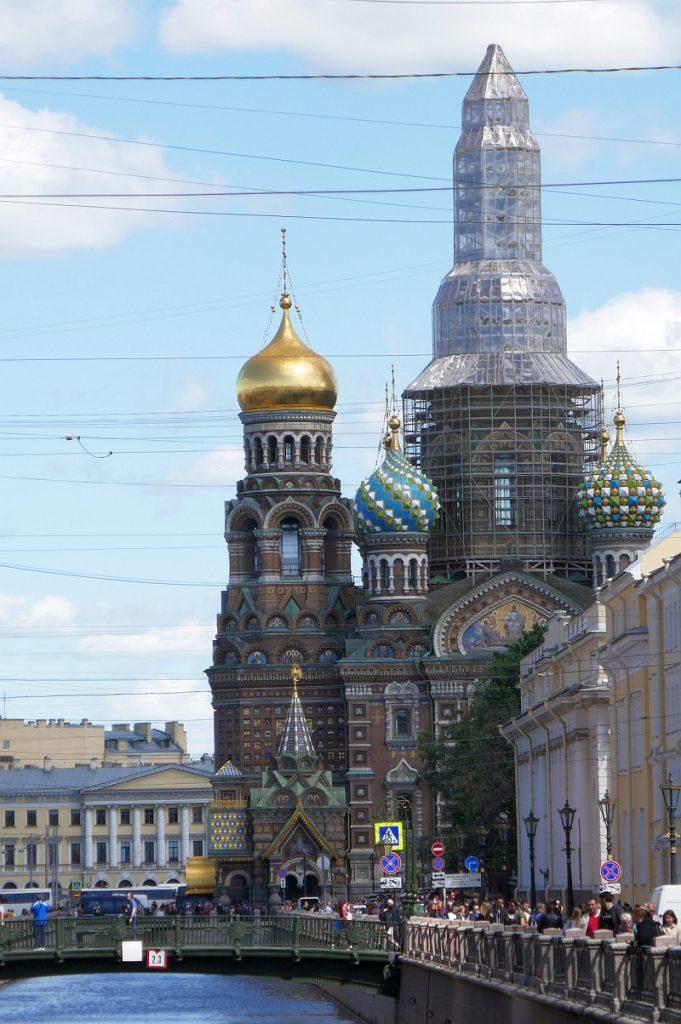 改修中の血の上の救世主教会@サンクトペテルブルク
