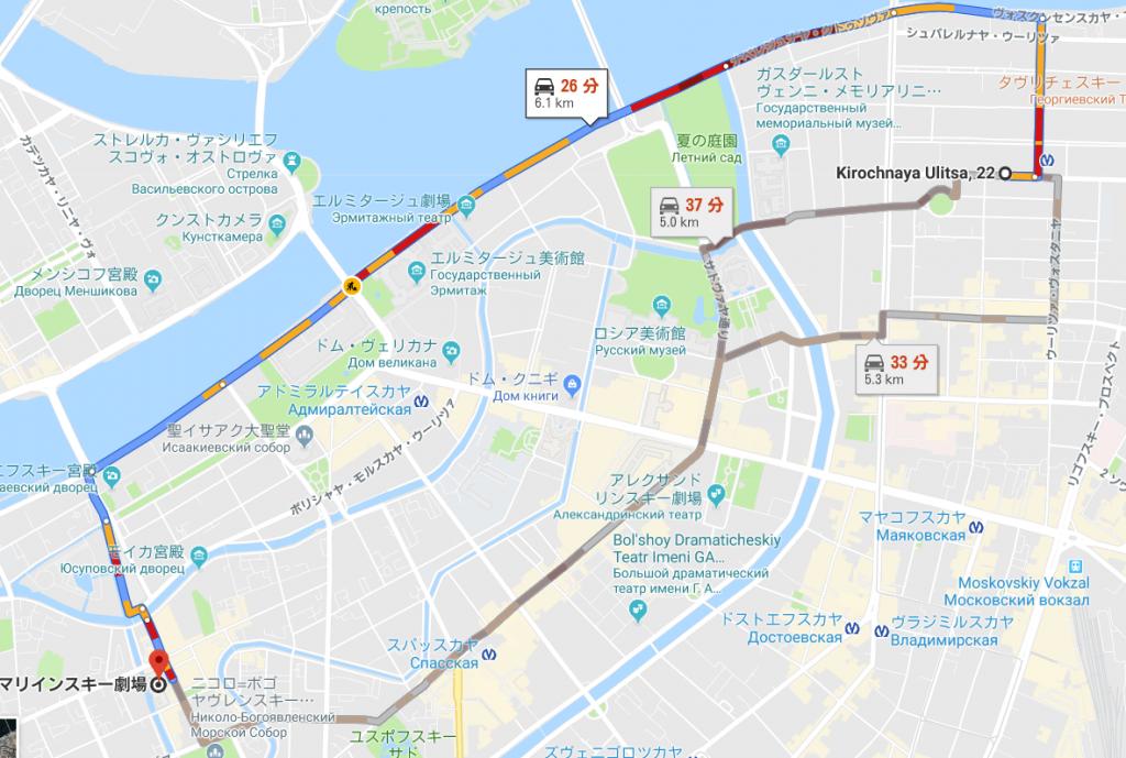 サンクトペテルブルクの交通渋滞
