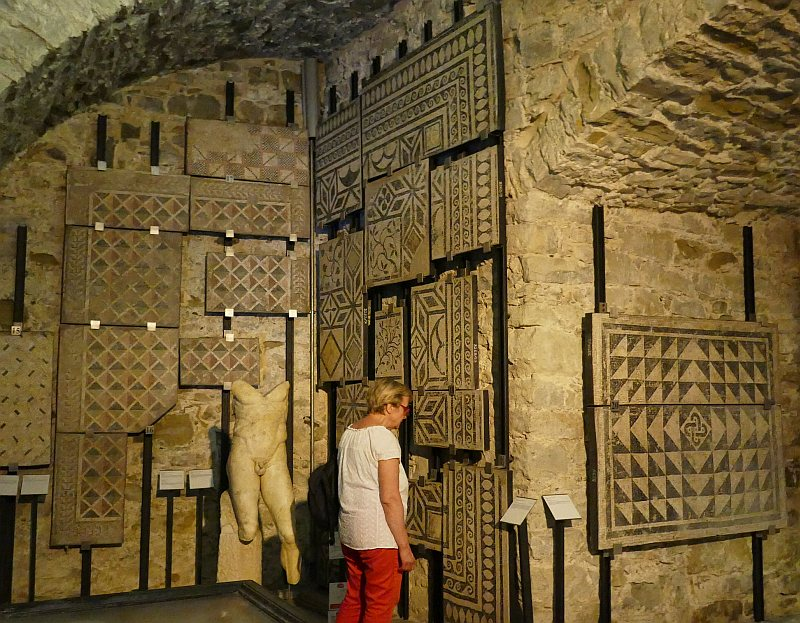 トリエステ、サン・ジュスト城地下のラピダリウム