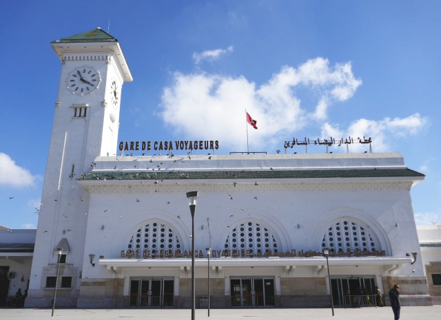 モロッコ鉄道カサブランカ、カサ・ヴォヤジャー駅旧駅舎